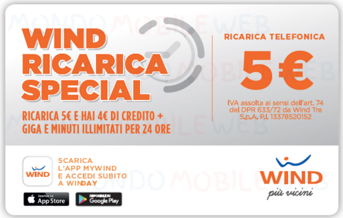 Wind Ricarica Special 5