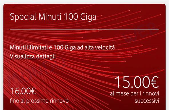 Vodafone Special Minuti 100 Giga