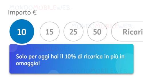 Tim Ricarica 10%