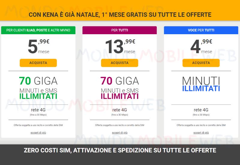Kena Mobile primo mese gratis