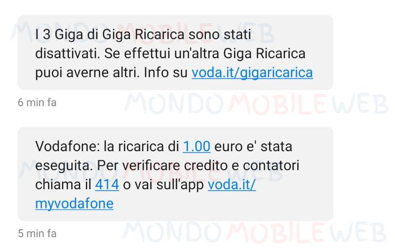 Giga Ricarica Vodafone