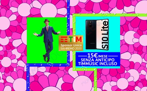 Photo of TIM: Samsung Galaxy S10 Lite in promo ad anticipo zero per Sanremo e altre nuove offerte smartphone