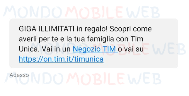 TIM Unica Giga illimitati