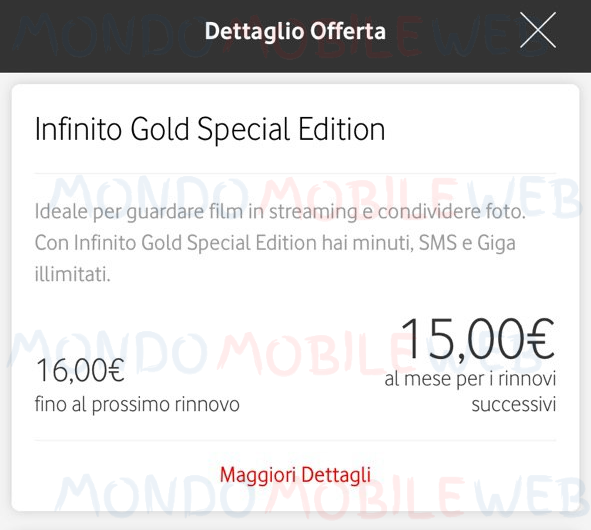 Infinito Gold Special Edition