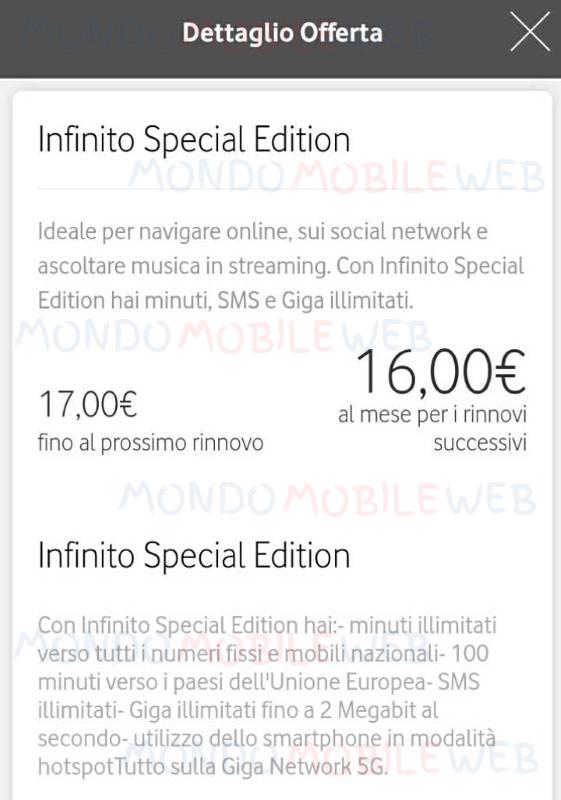 Vodafone Infinito Special Edition