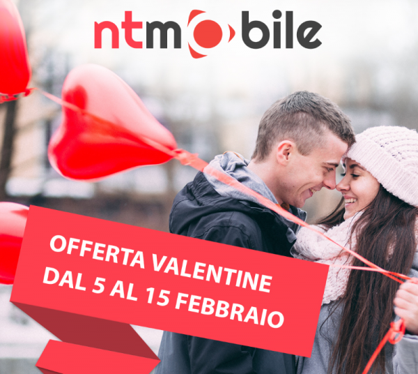Photo of NT Mobile lancia Valentine con 50 Giga e minuti illimitati a 7,99 euro al mese. Promo seconda sim