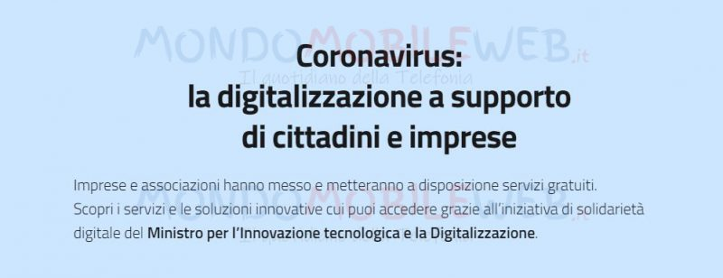 Coronavirus Solidarietà Digitale telefonia