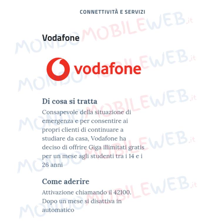 Vodafone Solidarietà Digitale