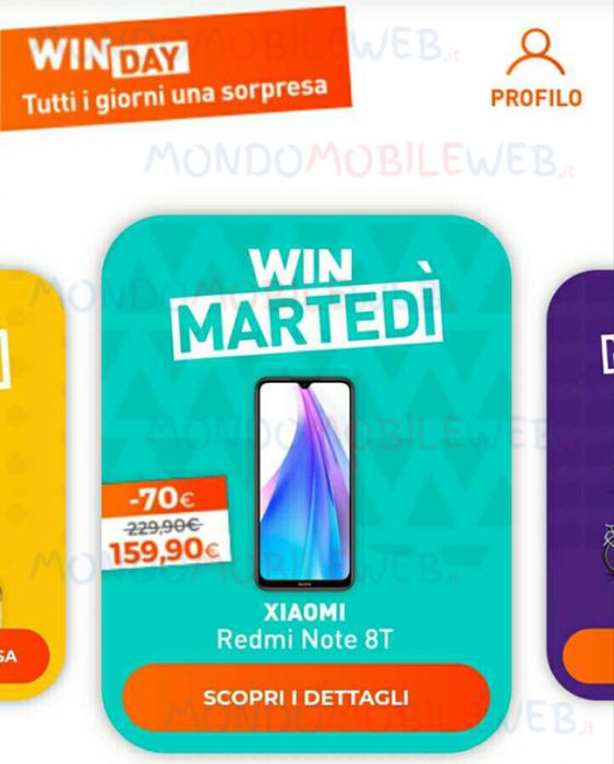 WINDTRE Xiaomi WinMartedì