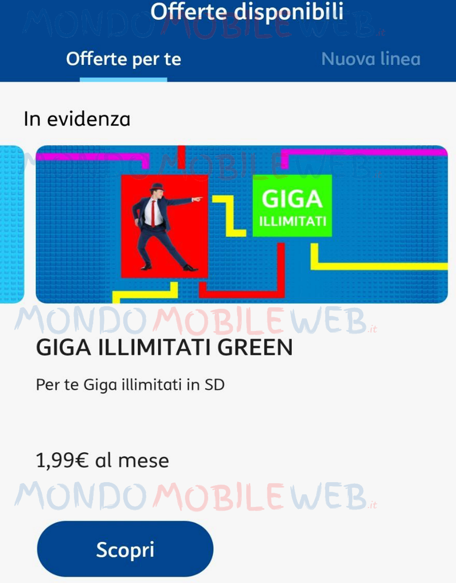 Giga illimitati green