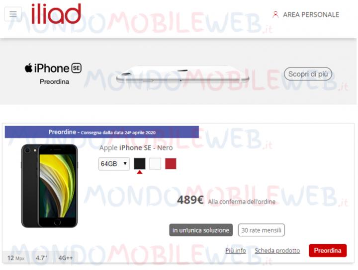 Iliad Apple iPhone SE