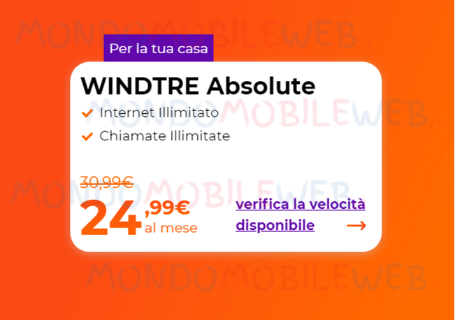 WINDTRE Absolute online