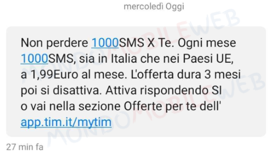 TIM SMS