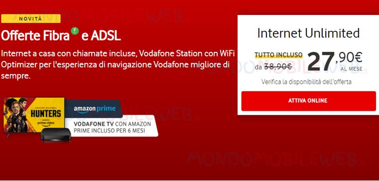 Vodafone Internet Unlimited TV Base