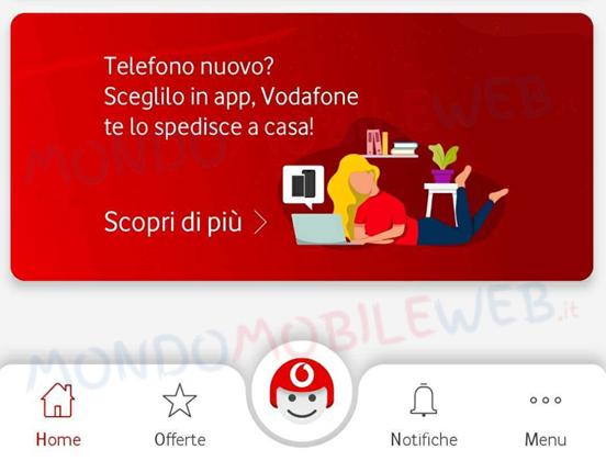 Vodafone app smartphone