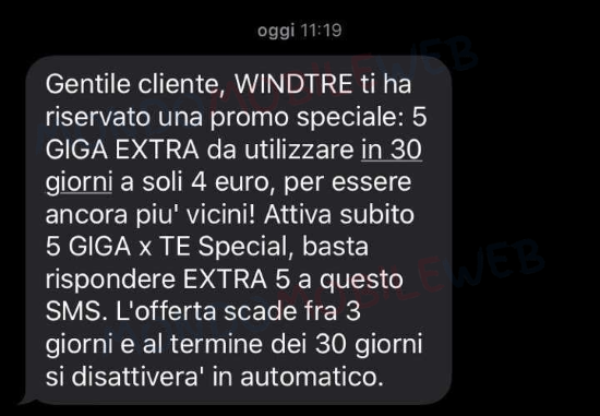 WINDTRE 5 Giga Extra
