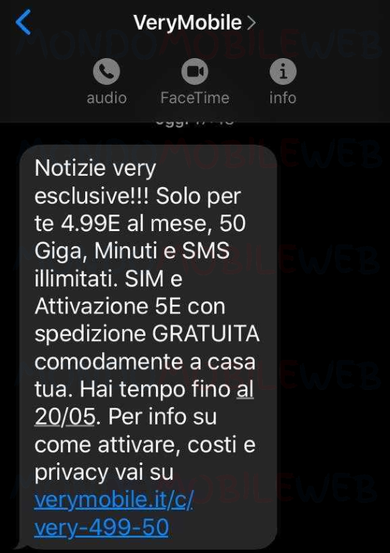 SMS Very Mobile
