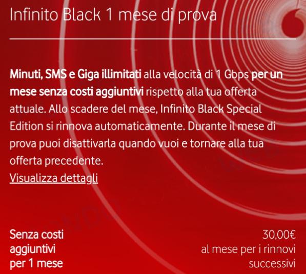Vodafone Infinito Gold 1 mese di prova