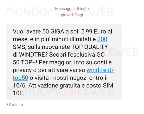 WINDTRE winback