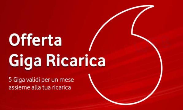 Vodafone Giga Ricarica 20