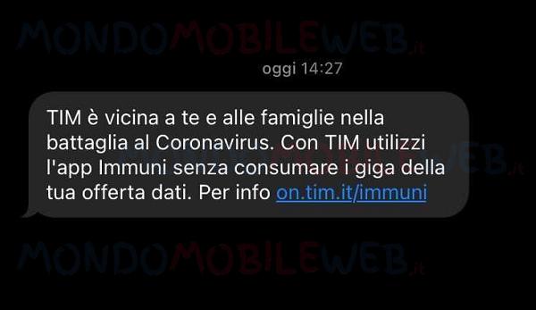 TIM app Immuni
