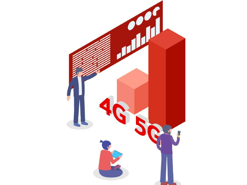 Vodafone rete 4g 5g grafico