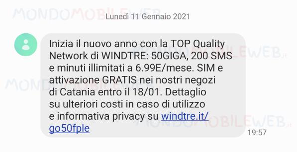 SMS winback GO locale