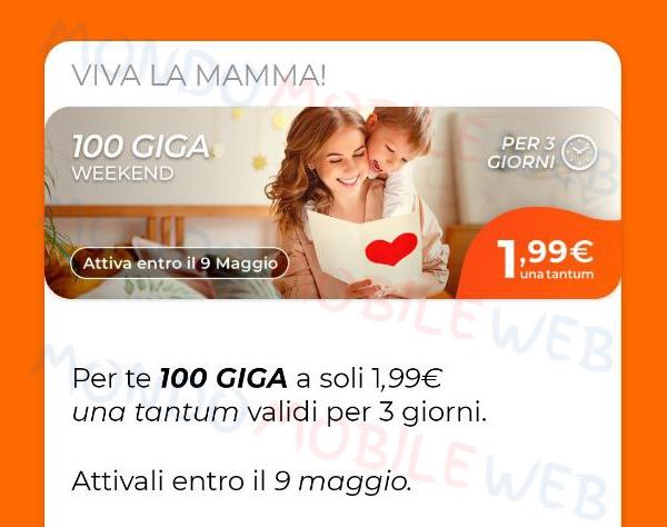 100 Giga Weekend Festa della Mamma