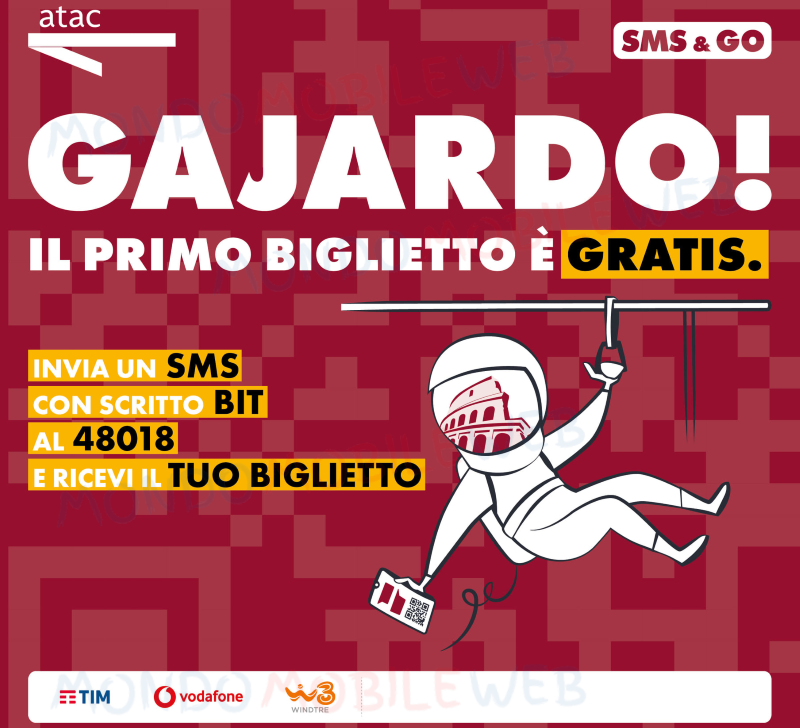 TIM Vodafone WINDTRE SMS&GO