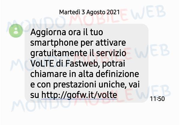 VoLTE SMS